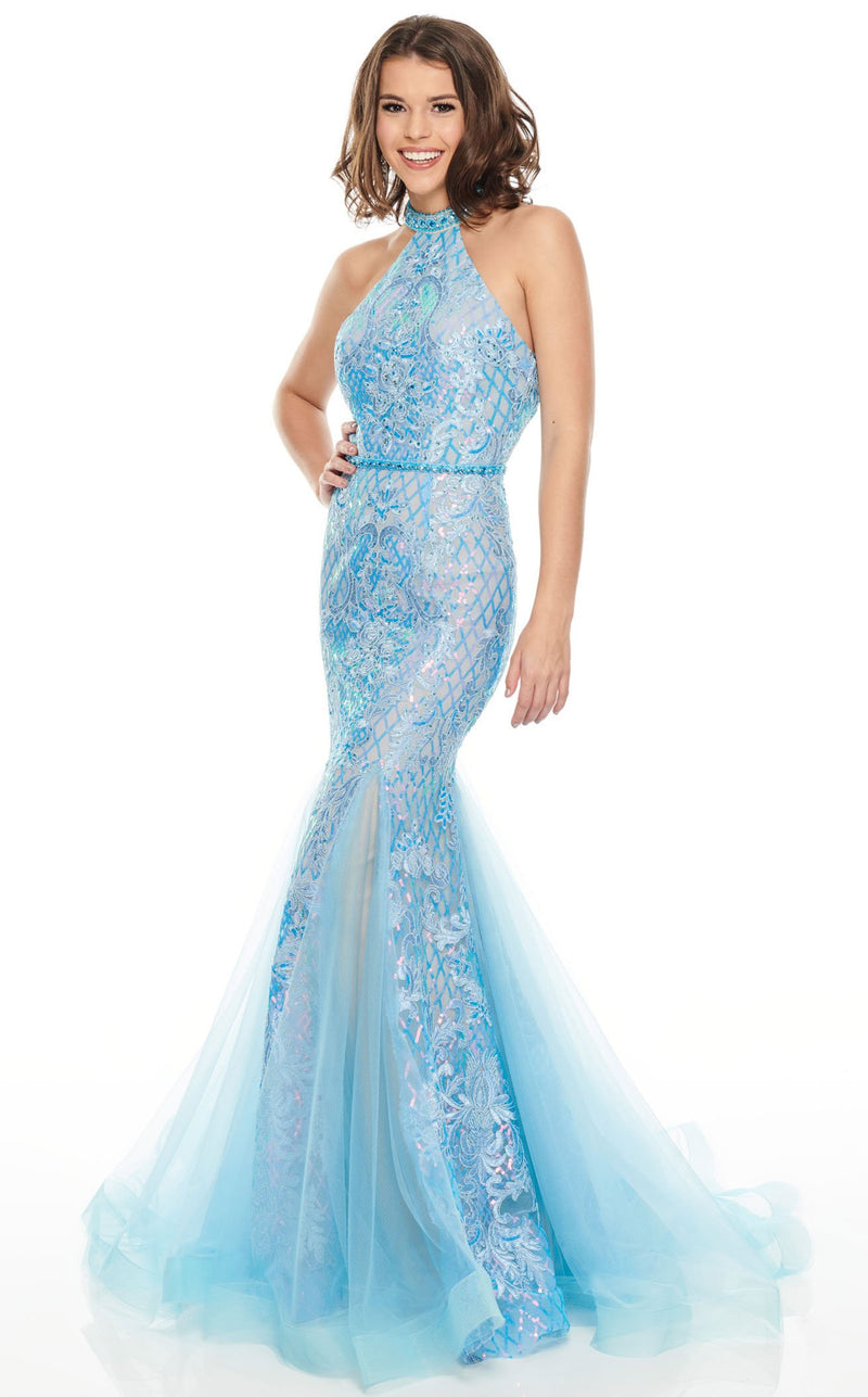 Rachel Allan 7123 Dress Periwinkle