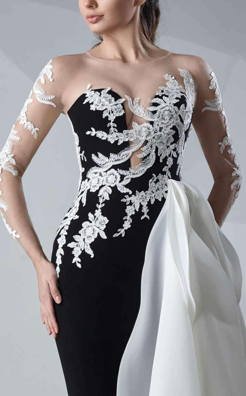 MNM Couture G0650 Black/White