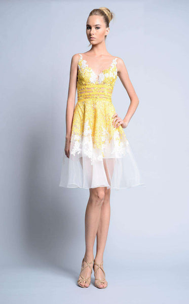 Beside Couture BC1130 Ivory/Yellow