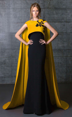 MNM Couture N0071 Black/Mustard