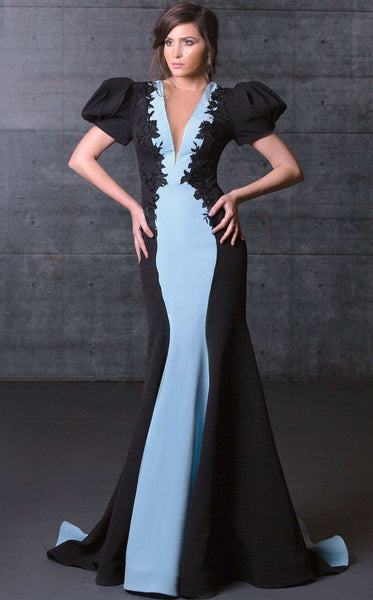 MNM Couture N0072 Black/Blue