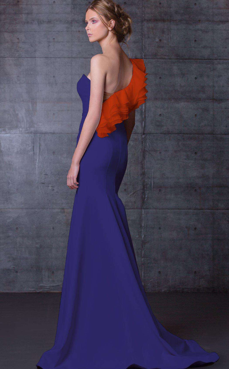 MNM Couture N0105 Royal Blue/Orange