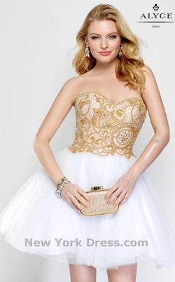 Alyce 3690 White/Gold