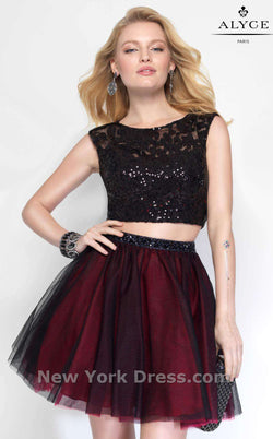 Alyce 4447 Black/Burgundy