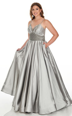Rachel Allan 7223 Dress Gunmetal