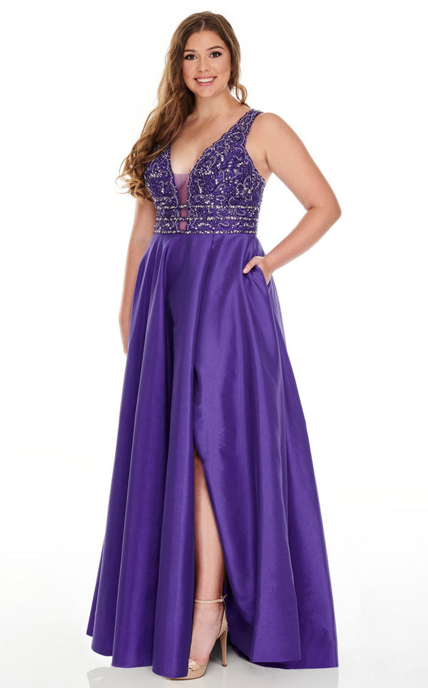 Rachel Allan 7232 Dress Purple