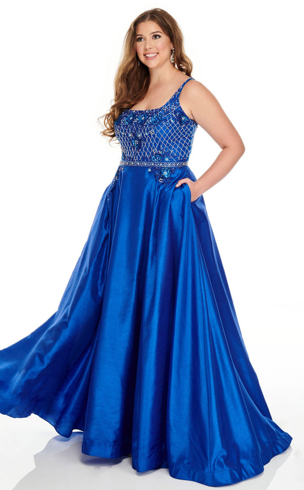 Rachel Allan 7234 Dress Royal