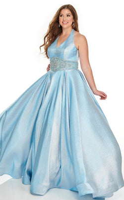 Rachel Allan 7239 Dress Light-Blue