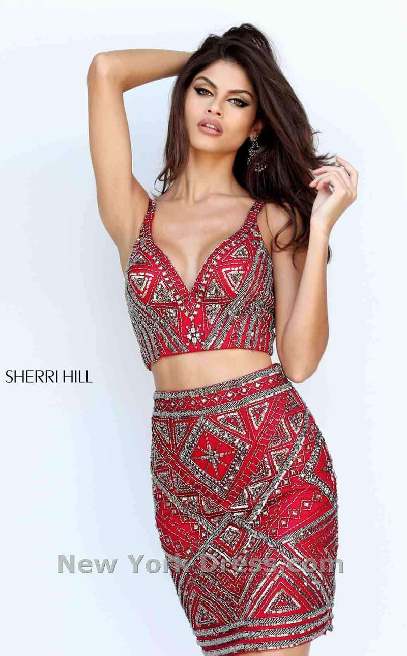 Sherri Hill 50628 Red