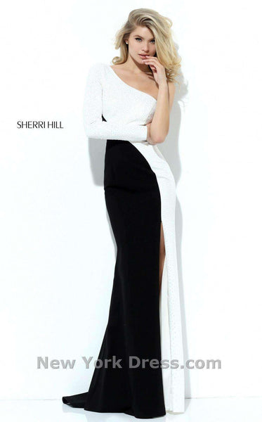 Sherri Hill 50648 Ivory/Black