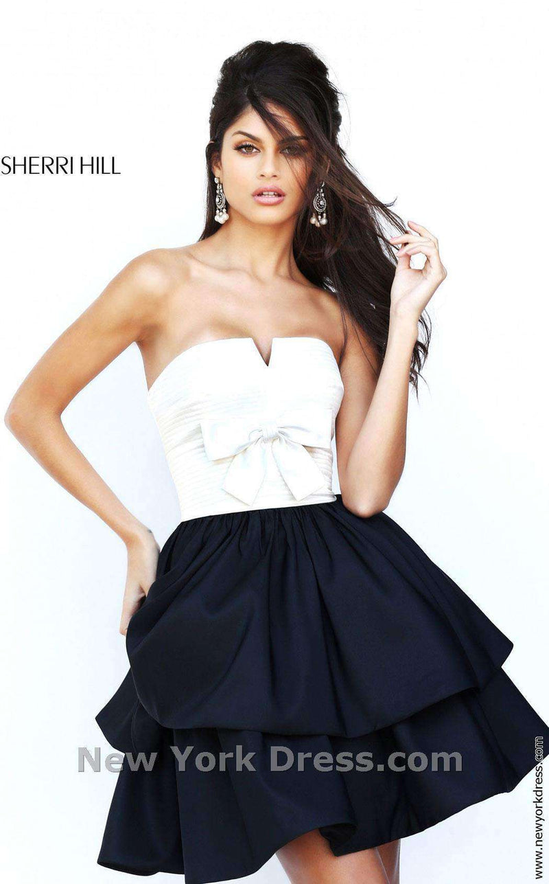 Sherri Hill 50673 Ivory/Black