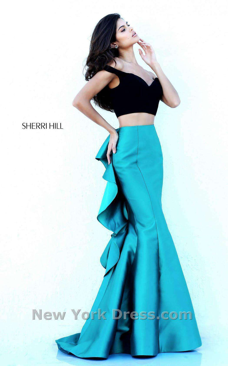 Sherri Hill 50750 Black/Teal