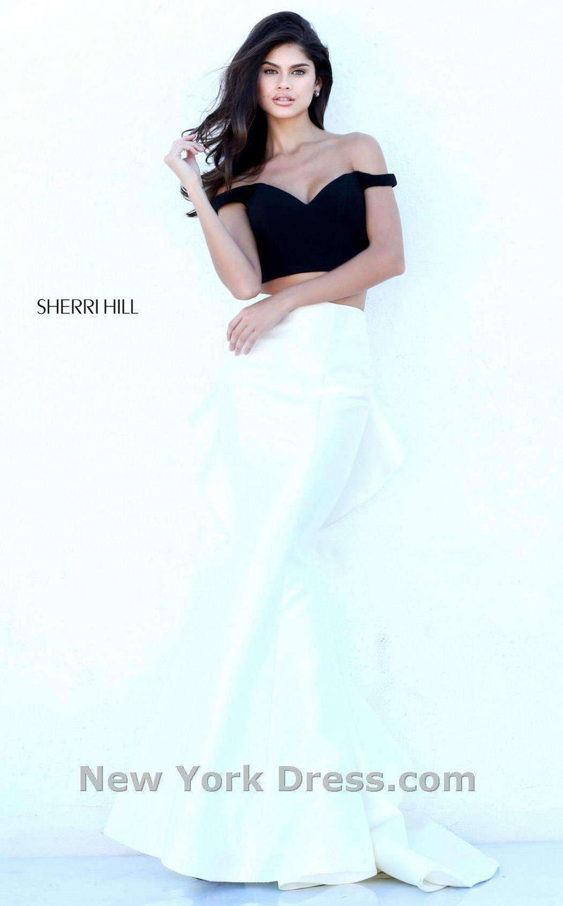 Sherri Hill 50750 Black/Ivory
