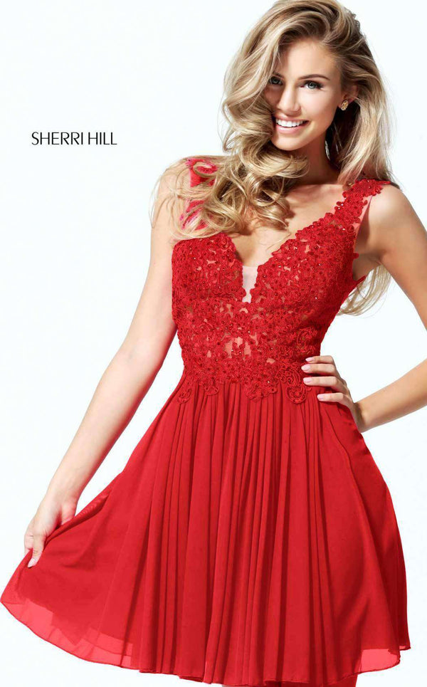 Sherri Hill 50756 Red