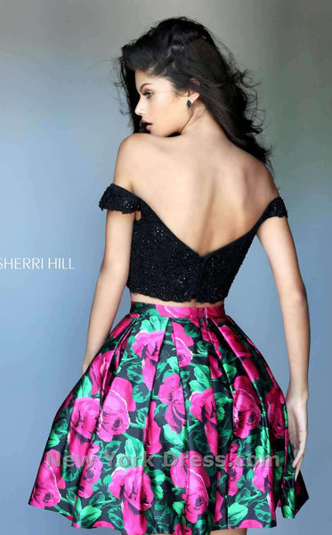 Sherri Hill 50774 Black/Fuchsia