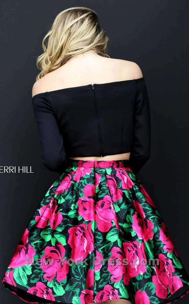 Sherri Hill 50583 Black/Fuchsia