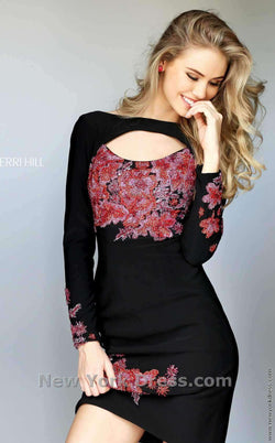 Sherri Hill 50607 Black/Multi