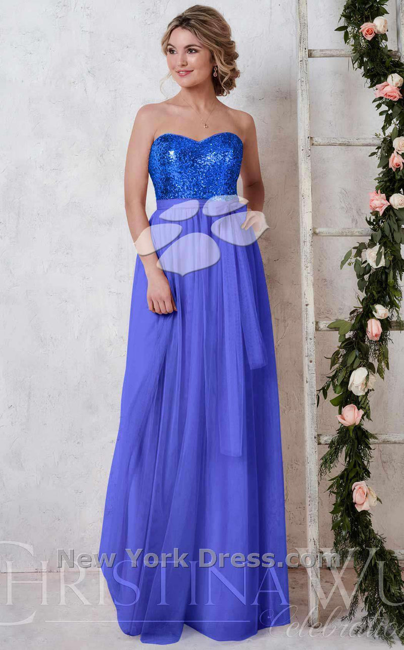 Christina Wu 22725CW Royal Blue