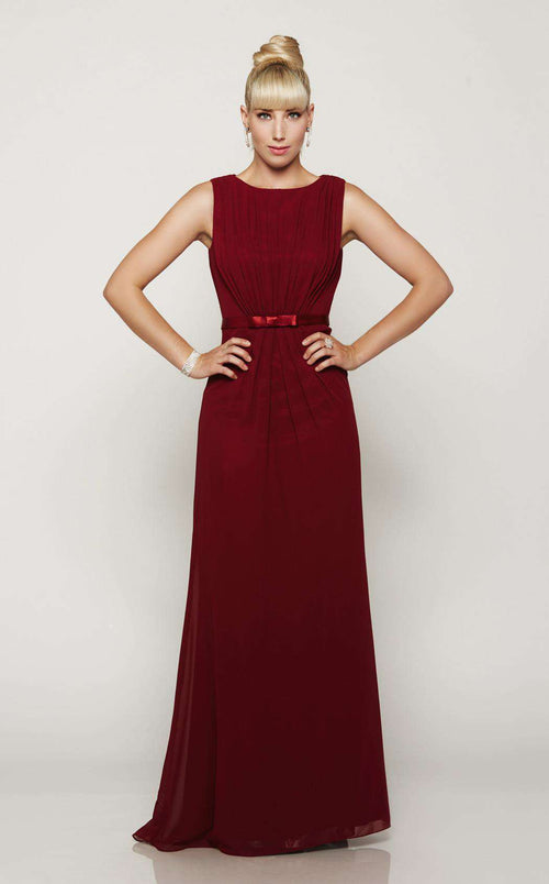 8684f4c6811c9 Milano Formals E2086 Burgundy. Mother of the Bride dress.