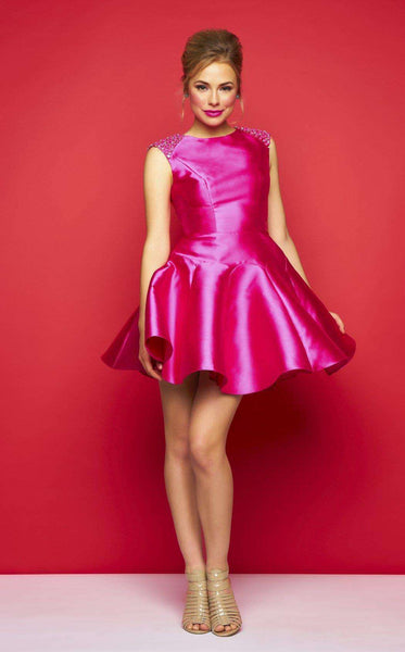 Mac Duggal 30322C Hot Pink