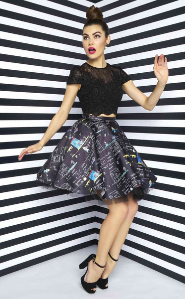 Mac Duggal 48569N Black Multi