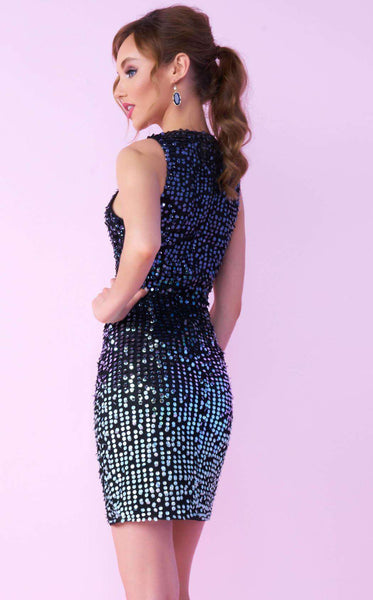 Mac Duggal 73005N Black Ombre