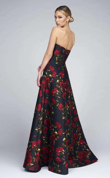 Mac Duggal 25263I Black Rose