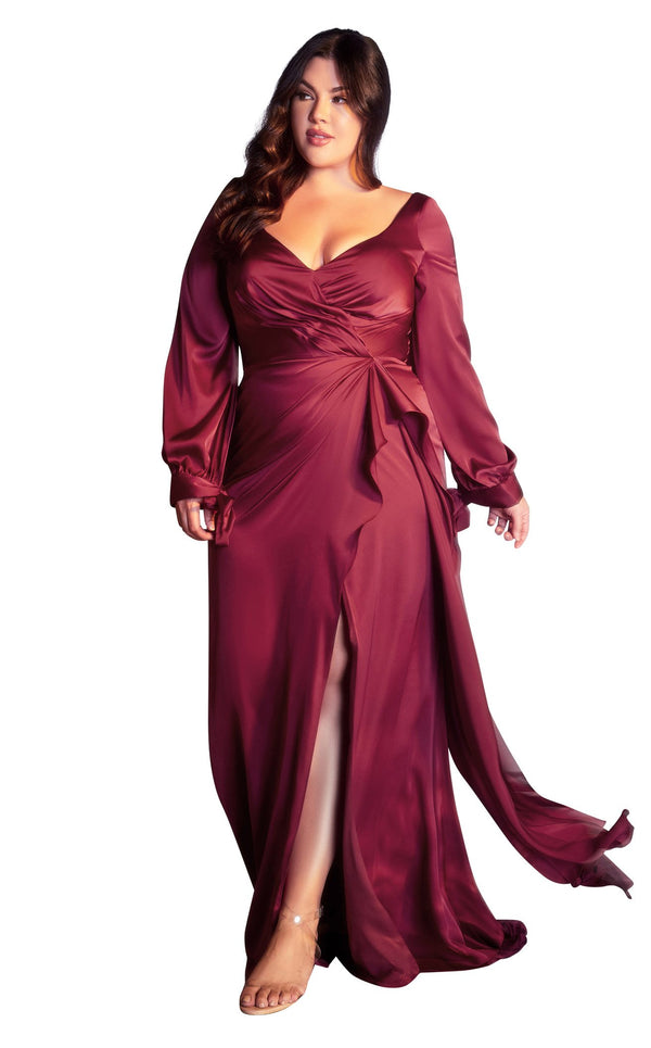 Cinderella Divine 7478C Dress Burgundy