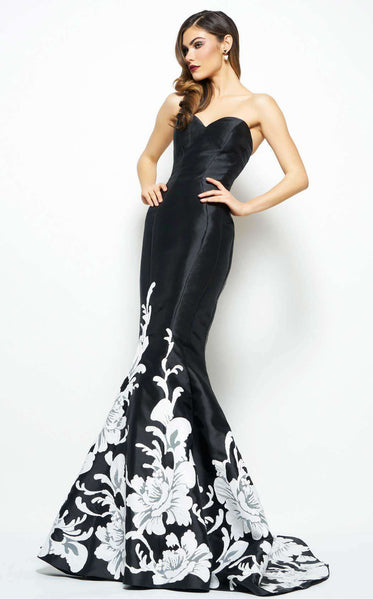Mac Duggal 80629 Black/Ivory