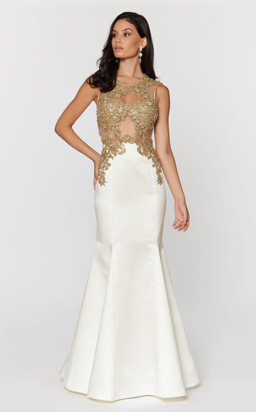Ashley Lauren 1203 Ivory/Gold