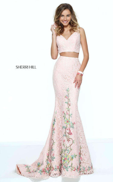 Sherri Hill 50778 Blush/Multi