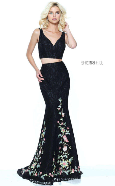 Sherri Hill 50778 Black/Multi