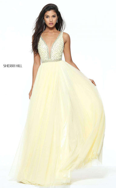 Sherri Hill 50868 Yellow