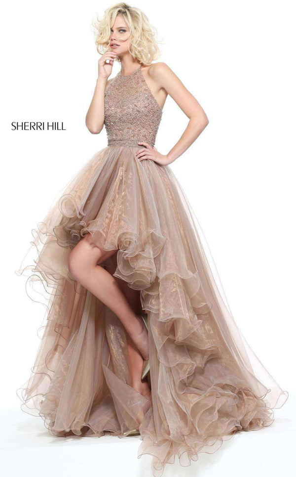 Sherri Hill 51140 Dark Nude