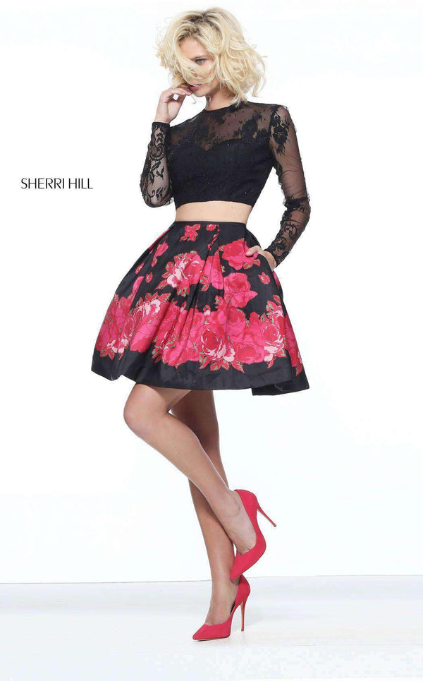 Sherri Hill 51194 Black/Red
