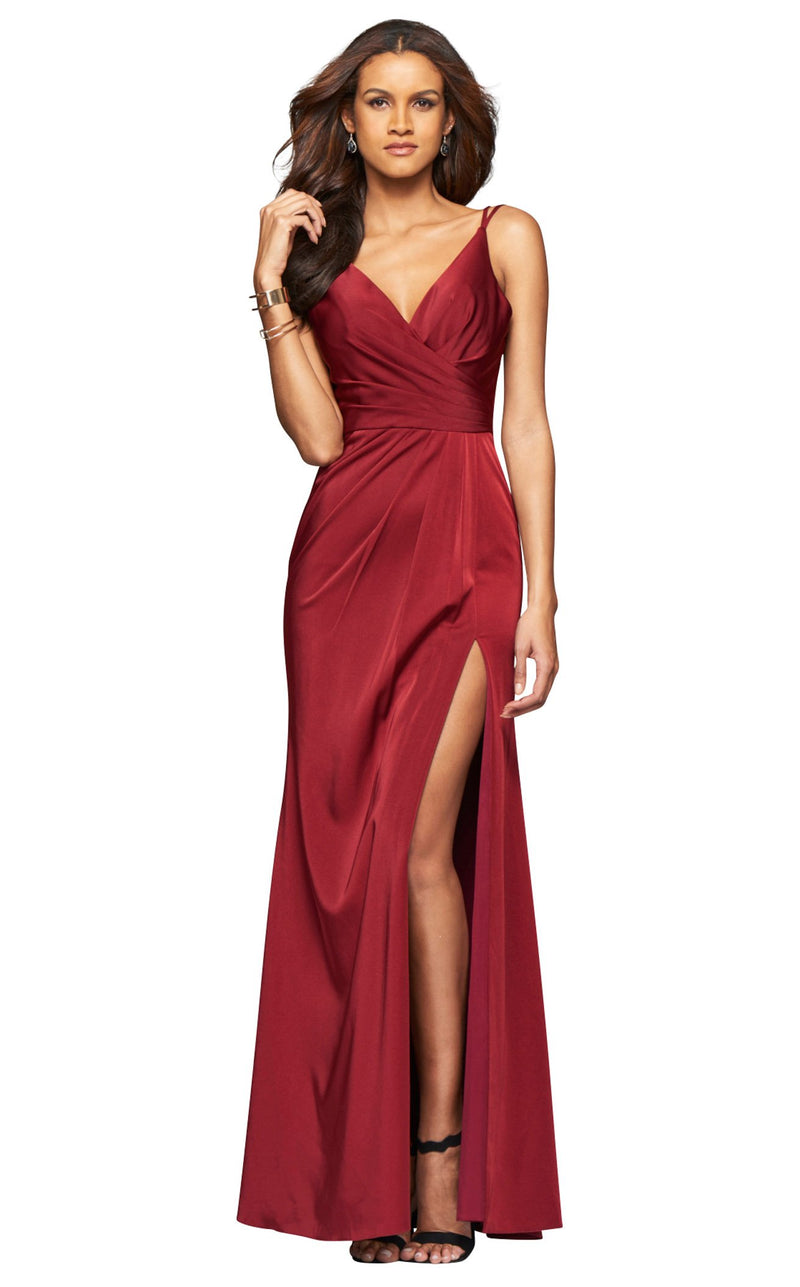 Faviana 7755E Dress Wine