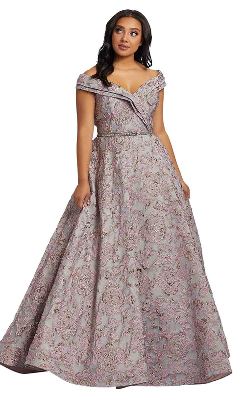 Mac Duggal Fabulouss 77738F Platinum-Rose
