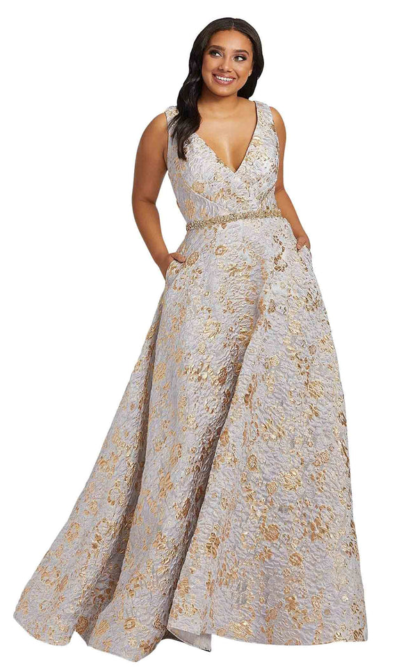 Mac Duggal Fabulouss 77741F Platinum-Gold