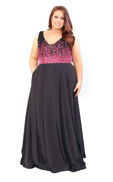 Kurves 71128 Black/Fuchsia