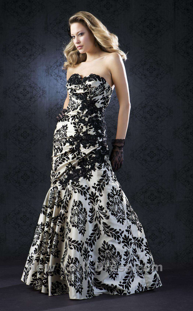 Mac Duggal 2442 Cream/Black