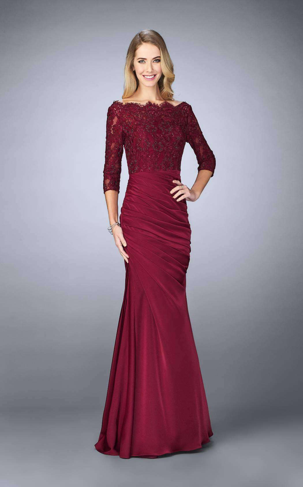 Ttybridal Off The Shoulder Velvet Evening Gown Long Prom Party Dresses With Two Sleeves V4 Dresses Women