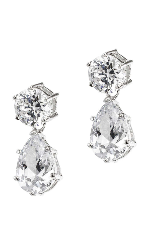 CZ by Kenneth Jay Lane KE035 Clear/Silver