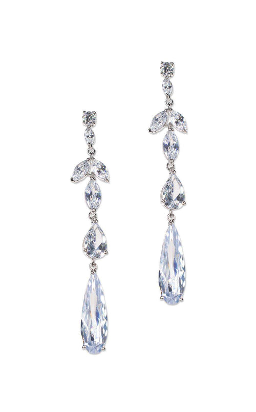 CZ by Kenneth Jay Lane KE1074 Clear/Silver
