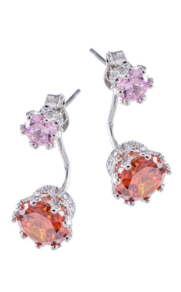 CZ by Kenneth Jay Lane KE1218 Orange/Silver