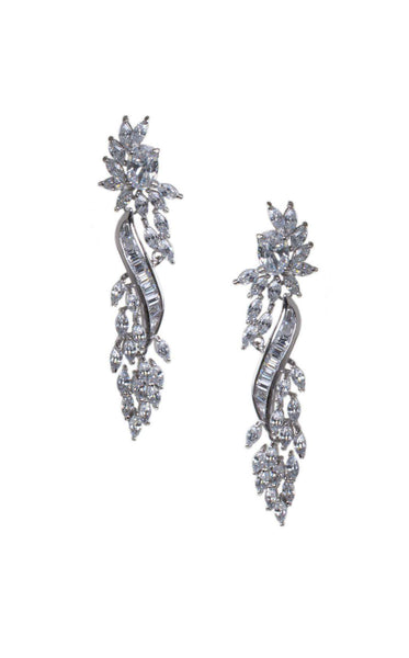 CZ by Kenneth Jay Lane KE1666 Clear/Silver