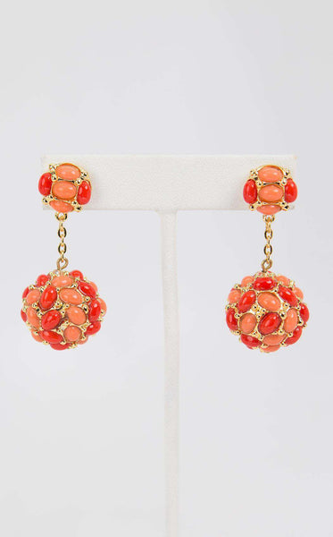 Kenneth Jay Lane 4635ETTC Gold/Coral