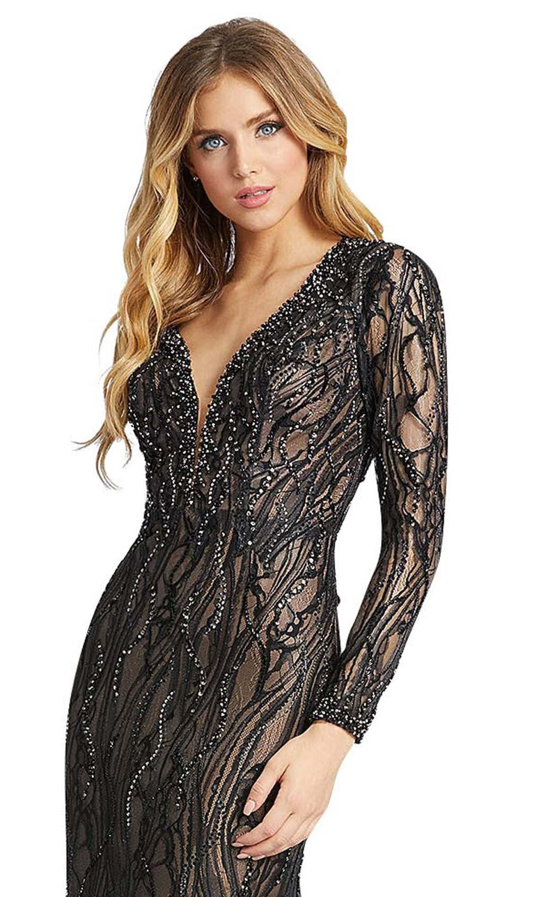 Mac Duggal 79291D Black-Nude