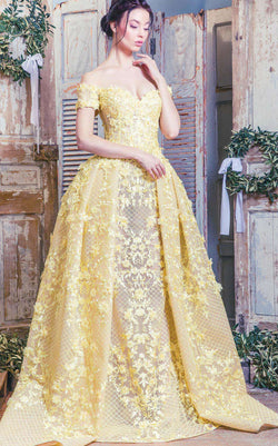 MNM Couture K3496 Yellow