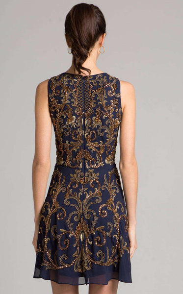 Lara 33258 Navy/Gold