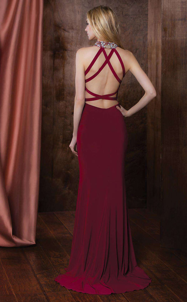 Colors Dress 1741 Wine